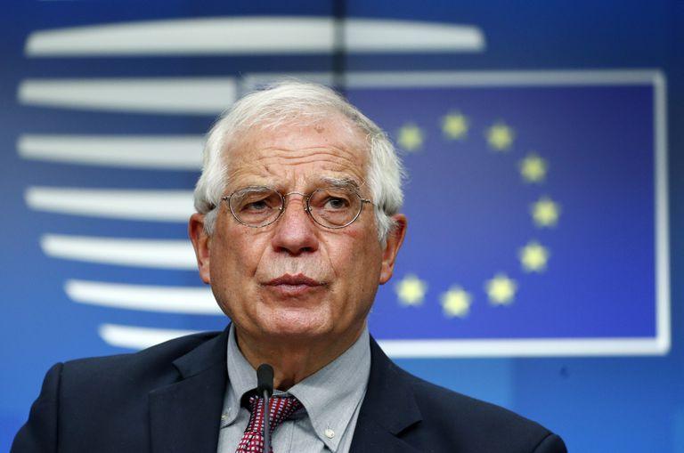 Josep Borrell, alto representante para a Política Exterior e Segurança Comum da União Europeia, em julho.