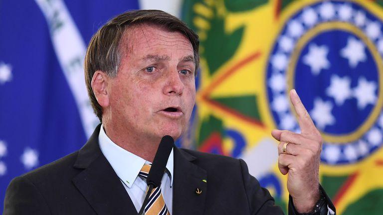 Bolsonaro durante seu discurso em 10 de novembro.