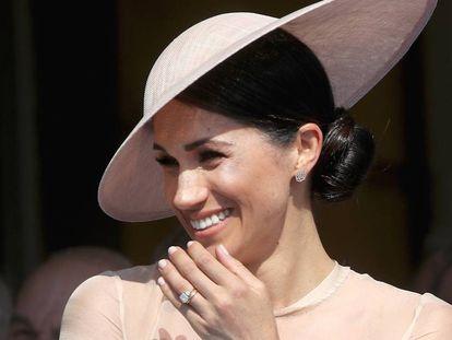 Meghan Markle, duquesa de Sussex, em seu primeiro ato público depois do casamento, em 22 de maio de 2018.