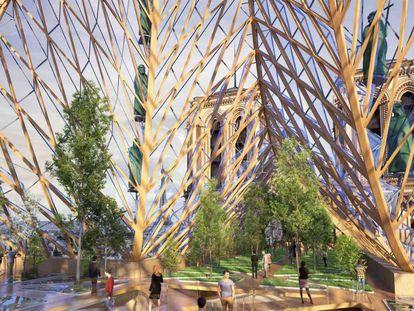 De bosque a piscina: 12 propostas de arquitetos para Notre Dame