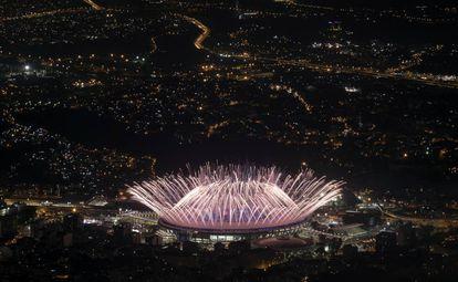 Cerimônia de abertura dos Jogos Olímpicos 2016.