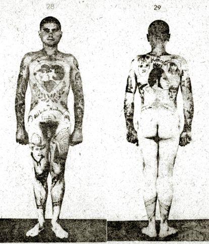 Prisioneiro de Buchenwald posa para a tese de Erich Wagner