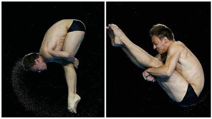 Precisão, força, concentração. Ou, resumindo: Daley em pleno salto.
