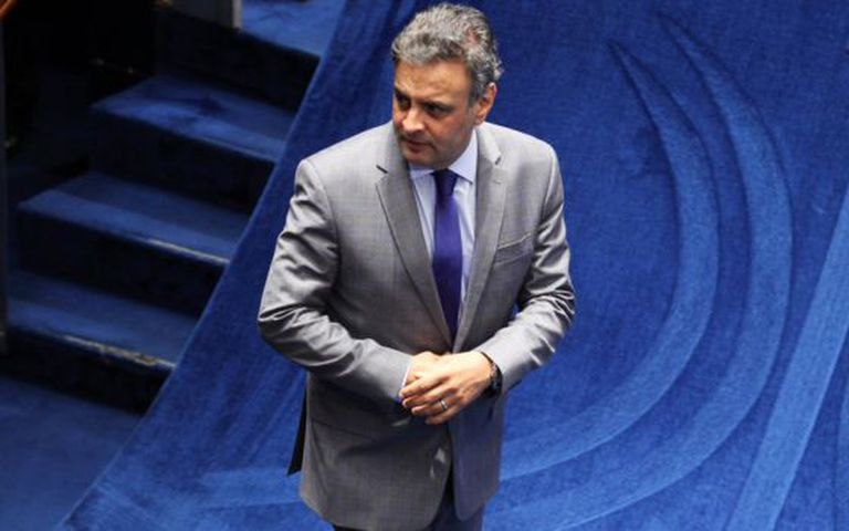O senador Aécio Neves, presidente do PSDB.