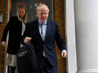 Boris Johnson nesta quarta-feira, em Londres.