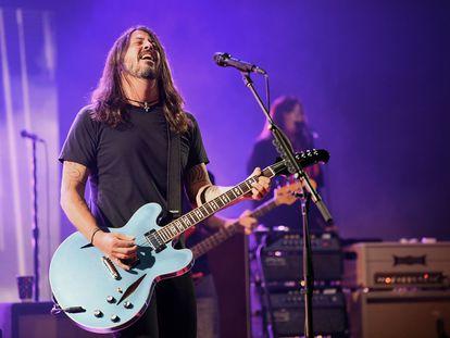 Dave Grohl durante um show on-line com o Foo Fighters em 28 de janeiro.