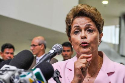 Dilma Rousseff  no lançamento do Plano Nacional de Defesa Agropecuária.