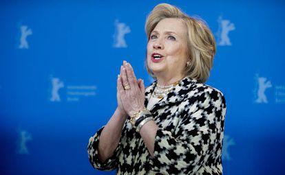 Hillary Clinton nesta terça-feira no Festival de Berlim.