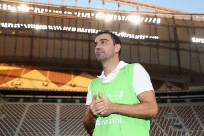 O ex-jogador Xavi Hernandez no Khalifa International Stadium, em Doha.