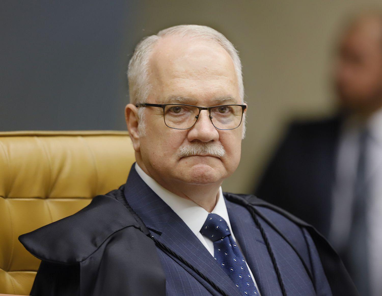 O ministro Edson Fachin, em 11 de março, no plenário do Supremo Tribunal Federal.
