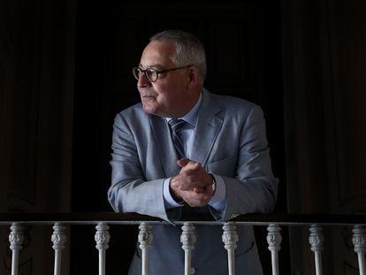 O historiador Karl Schlögel, retratado em Madri.