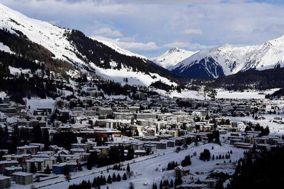 O bucólico entorno do Fórum Econômico Mundial de Davos.