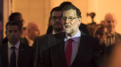 Mariano Rajoy em um encontro do Circulo de Economia