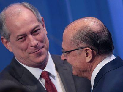 Ciro Gomes e Alckmin no debate da RedeTV!.