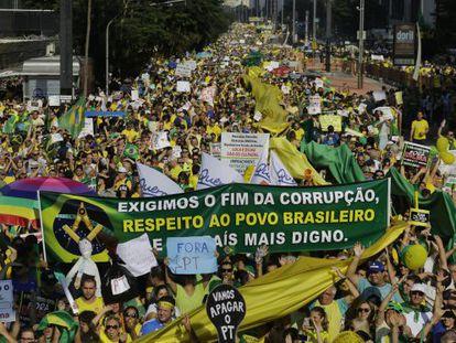 Protesto na avenida Paulista, no dia 12.