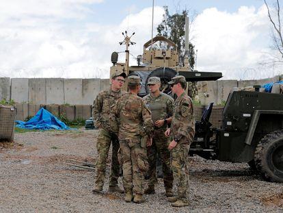 Militares norte-americanos em Nínive (Iraque), em março de 2020.