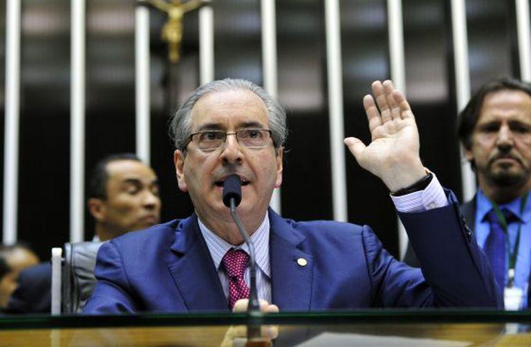 Eduardo Cunha, no Congresso.