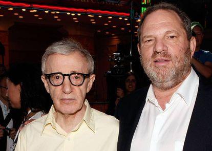 Woody Allen com Harvey Weinstein.