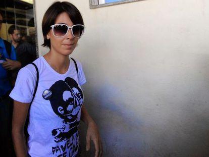 Elisa Quadros, a ativista 'Sininho'.