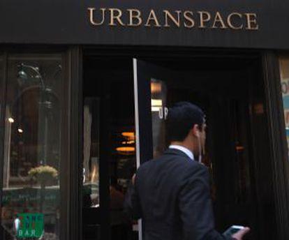 Entrada ao Urbanspace Vanderbilt, em Manhattan.