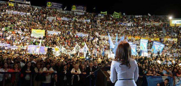 Cristina Fernández em Formosa (Argentina) nesta terça-feira.