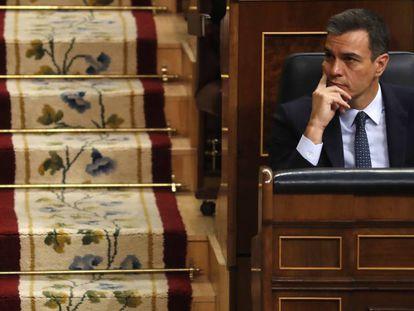 O presidente do Governo interino e candidato socialista, Pedro Sánchez.