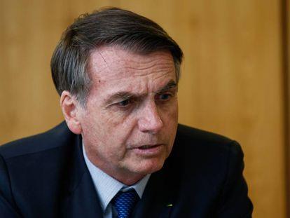 Presidente Jair Bolsonaro no Planalto em janeiro.