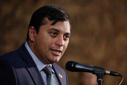 O governador do Amazonas Wilson Lima, em evento em julho de 2019, em Manaus.