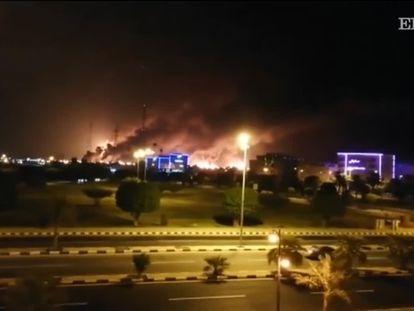 Imagens do incêndio no sábado passado.