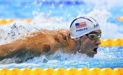 Phelps na prova de 200m borboleta nesta segunda-feira