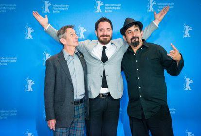 Alberto Castro, Pablo Larraín e Roberto Farías, de 'O clube'