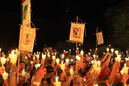 Romaria dos Mártires realizada na cidade de Ribeirão Cascalheira, MT.