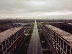 Vista general de una zona industrial abandonada de la ciudad de Detroit el d'a 29 de abril de 2020.