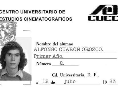 A carteira de estudante do CUEC de Alfonso Cuarón