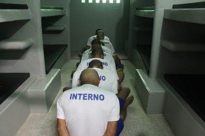 Um grupo de detentos na Cadeia Pública de Altos, no Piauí.