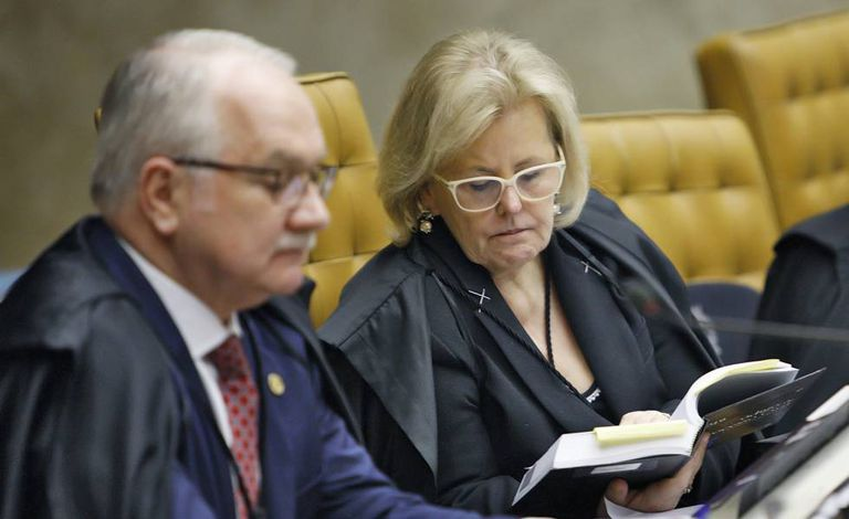 Os ministros do Supremo Edson Fachin e Rosa Weber.
