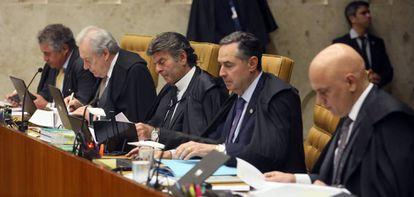 Ministros do Supremo em sessão plenária no último dia 26.