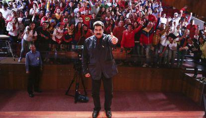 Nicolás Maduro na quarta-feira em Caracas.