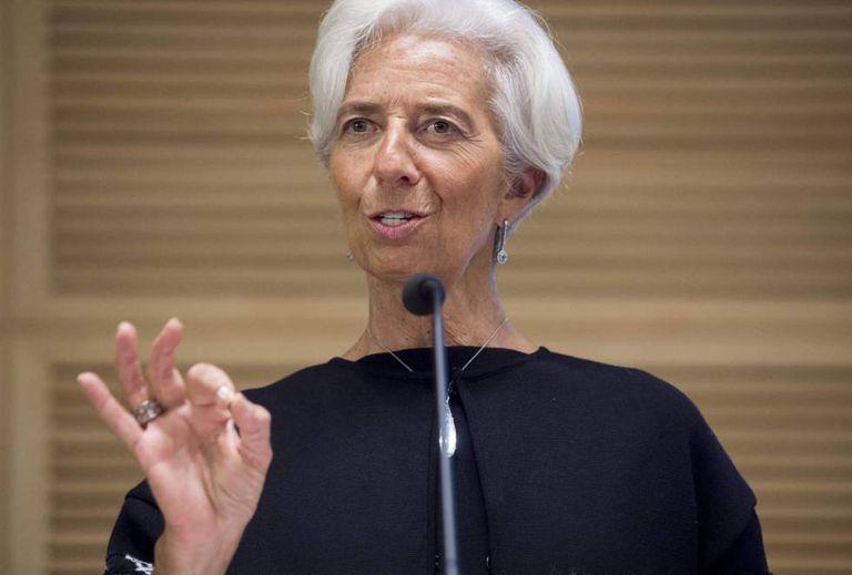 A diretora do FMI, Christine Lagarde, durante uma conferência em Washington o 3 de novembro.