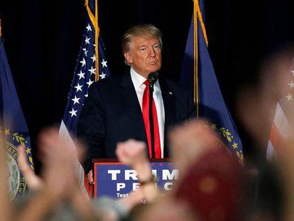 Trump, em um ato em Bedford, New Hampshire.