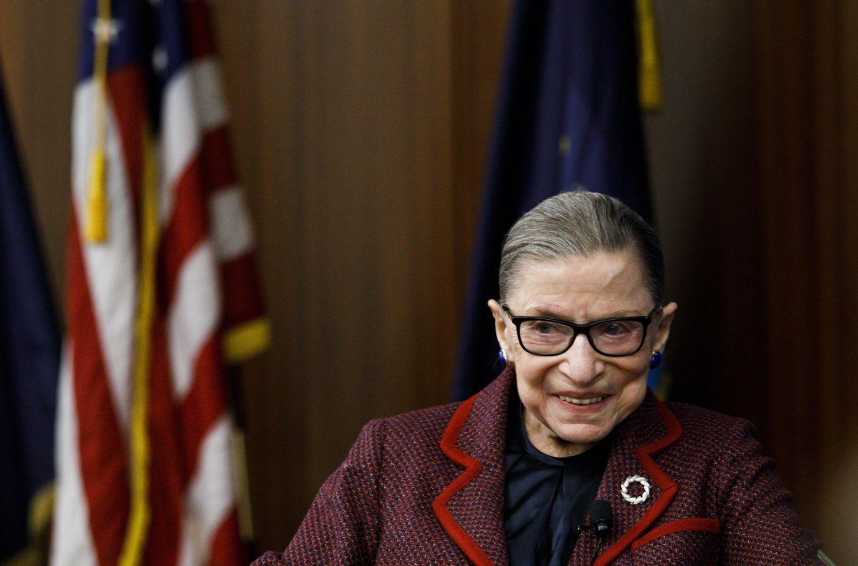 A juíza Ruth Bader Ginsburg em fevereiro de 2018.