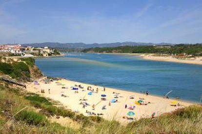 Praia de Vila Nova de Milfontes, no Alentejo.