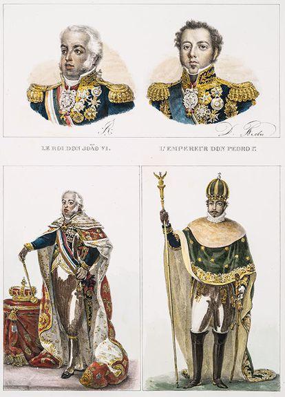 Embora educado para ser absolutista como D. João VI, D. Pedro I foi obrigado a dividir o poder com o Parlamento (imagem: Debret/The New York Public Library)