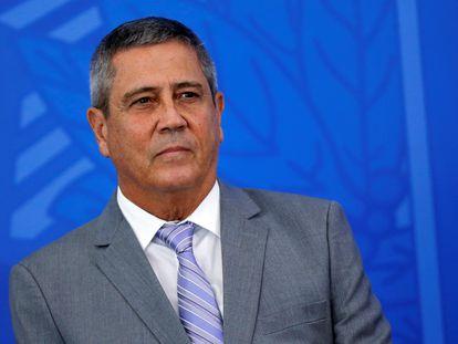O ministro Braga Netto, no dia 7 de abril, no Palácio do Planalto.