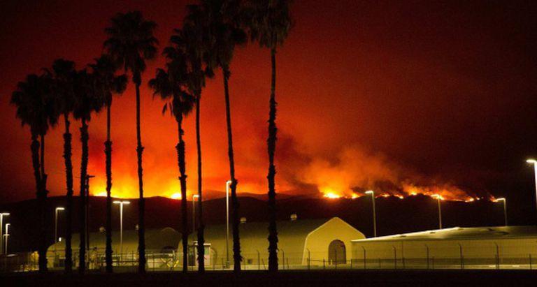 O grande incêndio que afetou o condado de San Diego.
