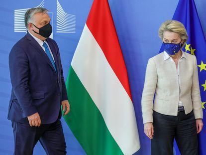 A presidenta da Comissão Europeia, Ursula von der Leyen, em 22 de junho de 2021 em Bruxelas.