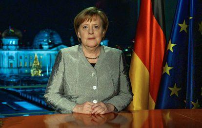 Angela Merkel, durante seu discurso de Ano Novo à nação.