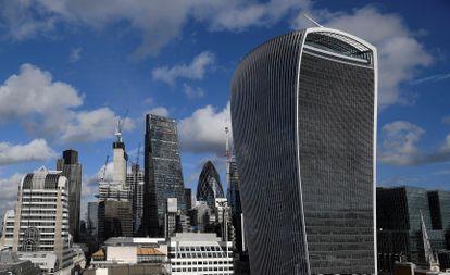 Imagem da City, o distrito financeiro de Londres, em janeiro de 2018.