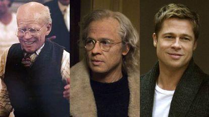 Fotogramas de 'O curioso caso de Benjamin Button', em que o protagonista vai rejuvenescendo com o passar do tempo.