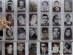 Un mural en Santiago con desaparecidos durante la dictadura de Pinochet.